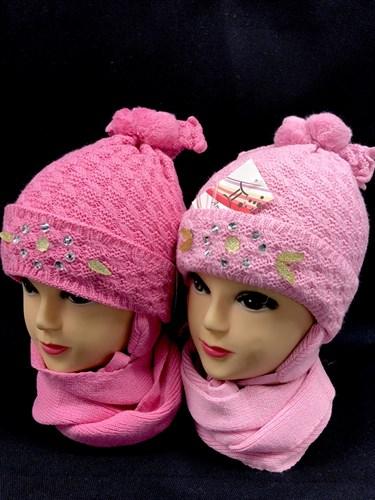 amal комплект шапка двойная вязка+шарф (р.50-54) - фото 12405