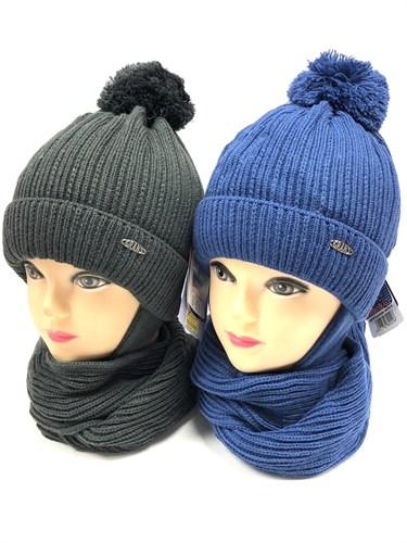 GRANS комплект  A 905 ST шапка вязаная с утеплителем+шарф (р.50-52) - фото 12476