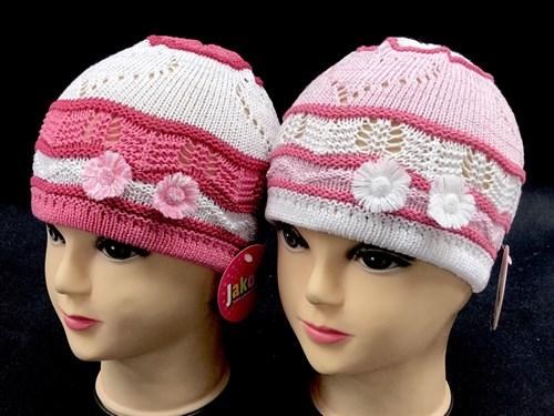 Jakob шапка одинарная вязка (два цветочка)(р.48-50) - фото 12651