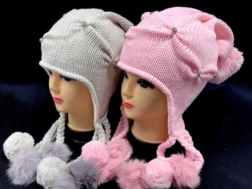 NAOMI шапка для девочки подкл.флис (р.54-56) косички - фото 12680