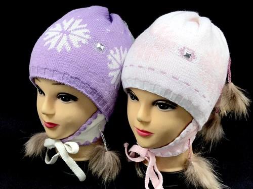 HILLTOP шапка 230-3 подклад флис, натуральный помпон (р.52-54) - фото 12750