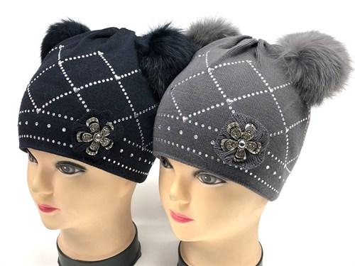 Barbaras модель WD 157/KM шапка двойная вязка (р.50-52) - фото 12751