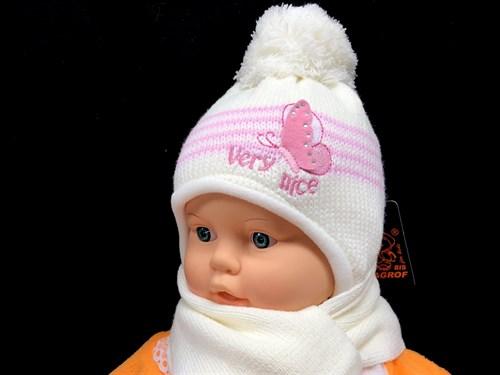 Magrof комплект KOD-855 шапка вязаная, подклад флис+шарф (р.38,40,42,44) - фото 13066