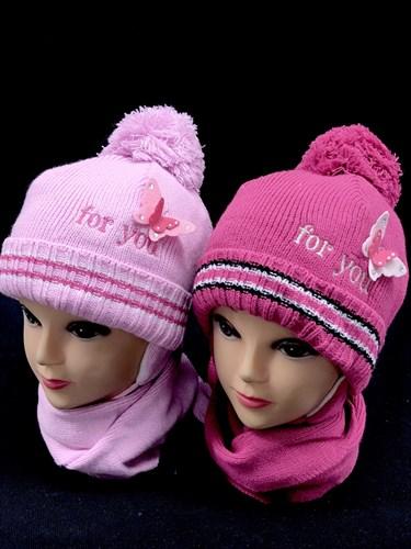 Magrof комплект шапка вязаная, подклад флис+шарф (р.44-46) - фото 13069