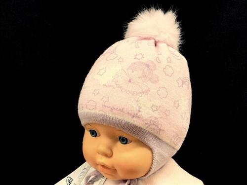 Barbaras модель WP 218/KE ISOSOFT шапка с нат.помпоном (р.42-44) - фото 13182