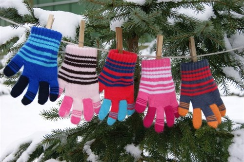 margot перчатки KOKS одинарная вязка (размер 14) - фото 13270
