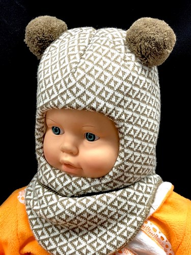 ПриКиндер шлем MH3-1242 с утеплителем, подкл.х/б (р.48-50) - фото 13448