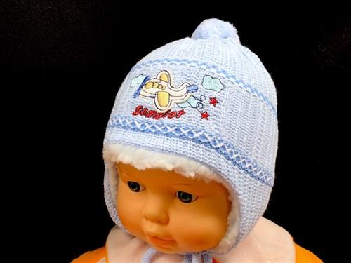 didi шапка вязаная, подклад мех (р.40-42) - фото 13486
