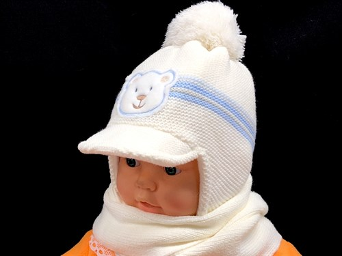 Magrof комплект KOD-838 шапка вязаная, подклад флис+шарф (р.40) - фото 13780