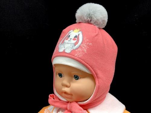 ambra шапка трикотажная с утеплителем, подклад хлопок (р.44-46) зайчик - фото 13922