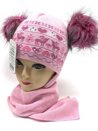 AGBO комплект  407 ESTERA шапка с утепл. + шарф (р.48-52) - фото 13929