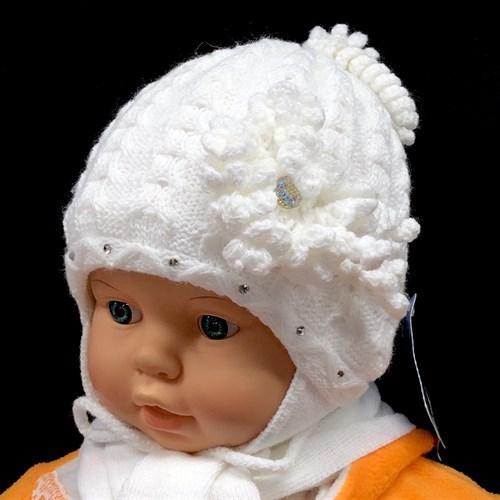 GRANS комплект A 516 шапка вязаная, подклад флис + шарф (р.38-40) - фото 14873