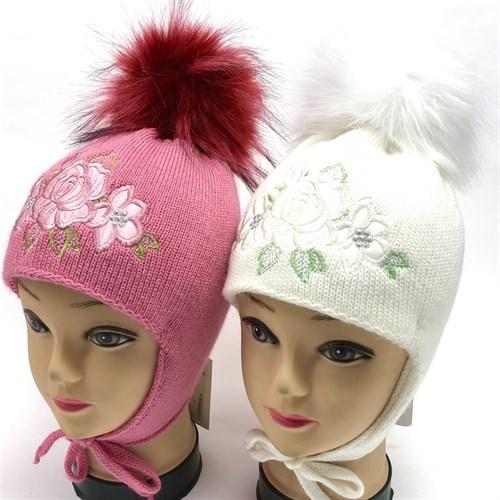 МегаШапка модель 1526 шапка для девочки подклад флис (р.48-52) - фото 15566