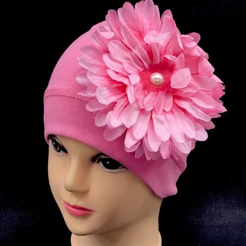 ambra шапка одинарный трикотаж (р.50-54) цветок - фото 15917
