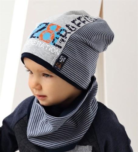 .AJS шапка 38-082 одинарный трикотаж (р.52-54) - фото 16548