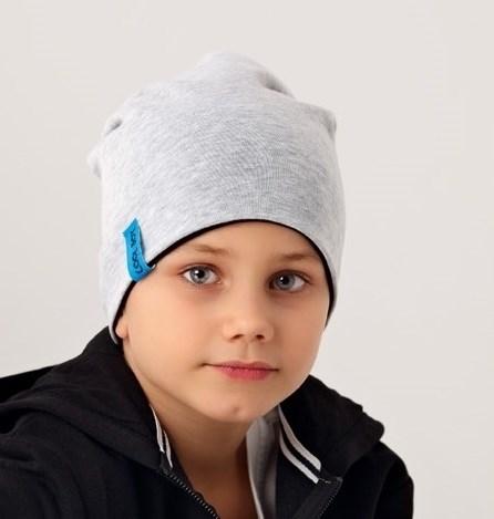.AJS шапка 38-185 двухсторонняя, двойн.трикотаж (р.54-56) - фото 16594
