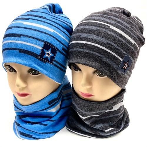 ambra комплект  шапка двойной трикотаж + снуд (р 48-52) - фото 17215