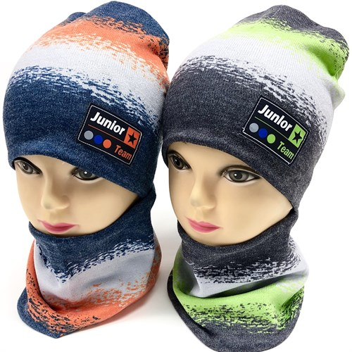 ambra комплект шапка двойной трикотаж + снуд (р.48-50) Junlor Team - фото 17226