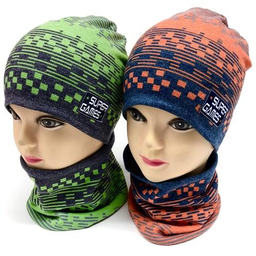 ambra комплект шапка двойной трикотаж + снуд (р.48-50) Super Games - фото 17235