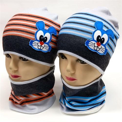 ambra комплект шапка двойной трикотаж + снуд (р.46-48) - фото 17262