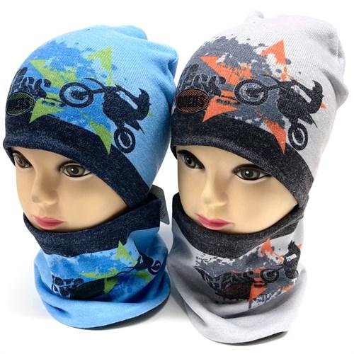 ambra комплект шапка двойной трикотаж + снуд (р.48-50) - фото 17276