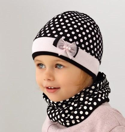 .AJS комплект 38-054 шапка одинарн.трикотаж + снуд (р.52-54) - фото 17460