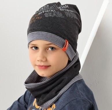.AJS комплект 38-162 шапка одинарная + снуд (р.52-54) - фото 17472