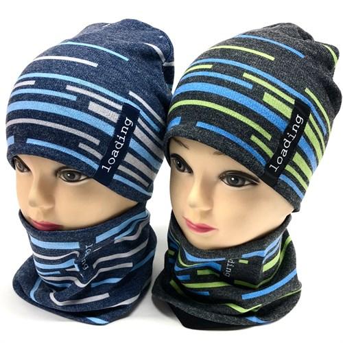 ambra комплект шапка двойной трикотаж + снуд (р.48-50) - фото 17538