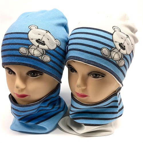ambra комплект шапка двойной трикотаж + снуд (р.48-50) - фото 17559