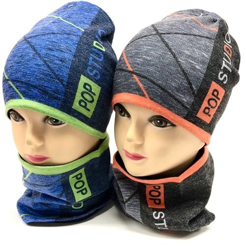 ambra комплект шапка двойной трикотаж + снуд (р.52-54) - фото 17565
