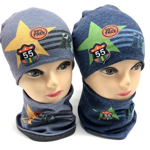 ambra комплект шапка двойной трикотаж + снуд (р.46-48) - фото 17584