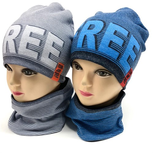 ambra комплект шапка двойной трикотаж + снуд (р.50-52) - фото 17601