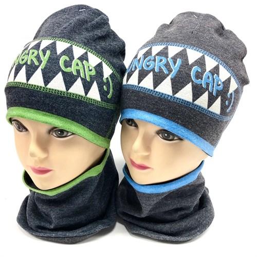 ambra комплект шапка двойной трикотаж + снуд (р.44-46,48-50) Ungry Cap - фото 17605