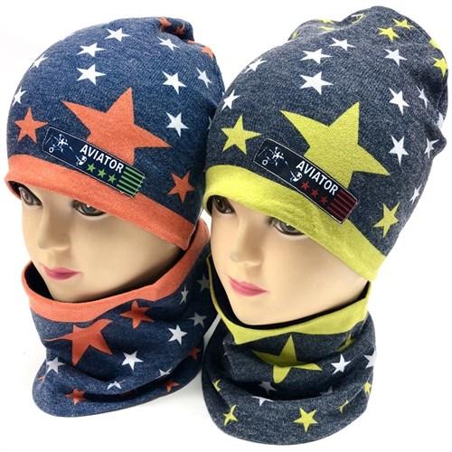 ambra комплект шапка двойной трикотаж + снуд (р.48-50) - фото 17625