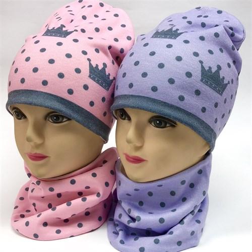 ambra шапка двойной трикотаж + снуд (р.52-54) - фото 17773