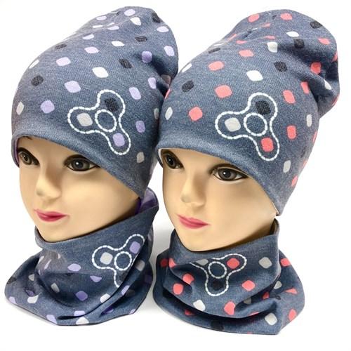 ambra комплект шапка двойной трикотаж + снуд (р.50-54) - фото 17785