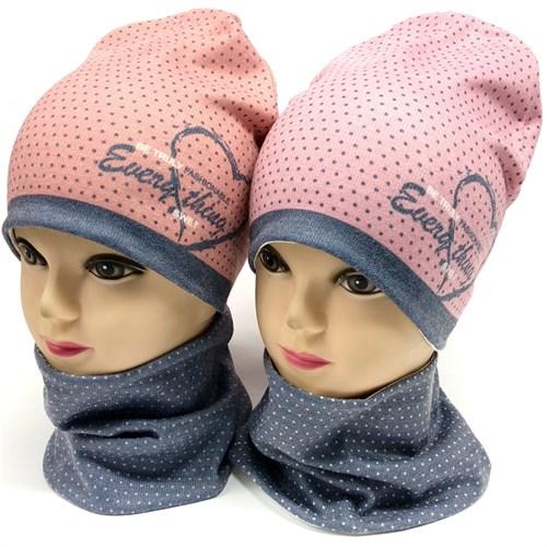 ambra комплект шапка двойной трикотаж + снуд (р.48-50) - фото 17971