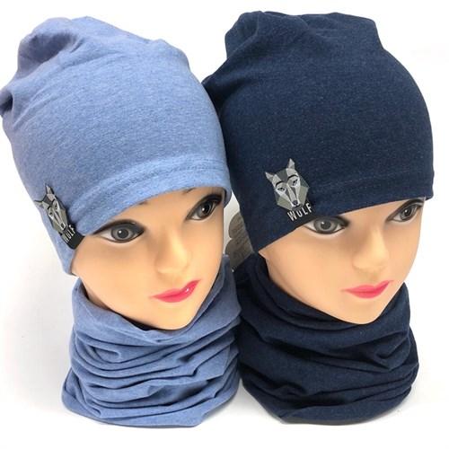 Fido комплект модель 836/102 шапка одинарный трикотаж+снуд (р.46-48;50-52) - фото 18881