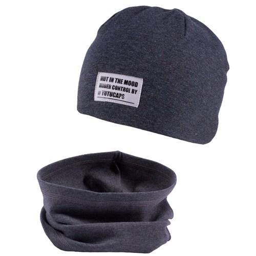 TuTu комплект модель 3-004662 шапка двойной трикотаж + снуд (р.54-58) - фото 19926