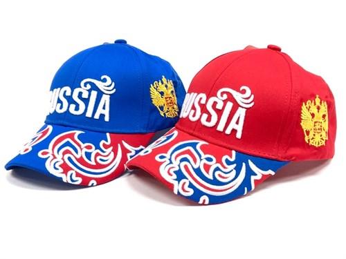 бейсболка Russia. узор на козырьке (р.56-58) - фото 21348