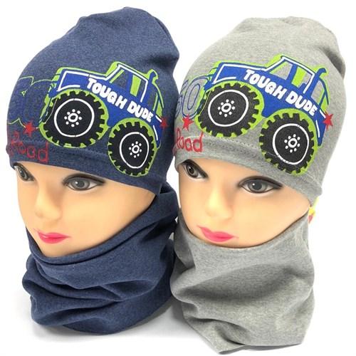 Fido комплект модель 799/104 шапка одинарный трикотаж+снуд (р.42-44) - фото 21651