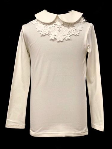 блузка ЛЮТИК модель 10108 трикотажная, кремовая (р.122,128,134,140,146) - фото 21789