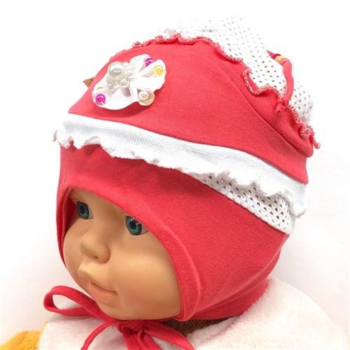 didi шапка одинарный трикотаж+сеточка, с завязками (р.44-46) - фото 21903