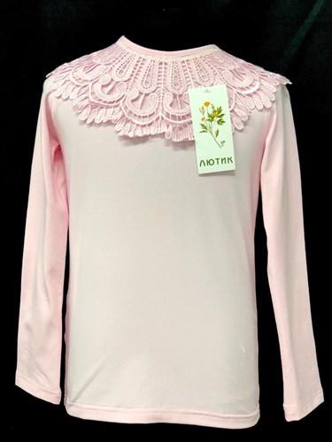 блузка ЛЮТИК модель 10107 д/р трикотажная, розовая (р.122,128,134,140,146) - фото 21969