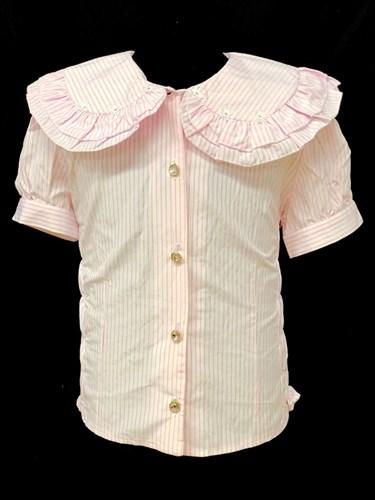 fenimark блузка кор.рук. розовые полоски (р.128-152) - фото 21993