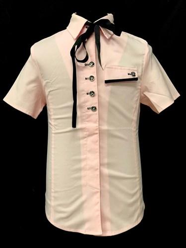 блузка короткий рукав, прямая, розовая (р.34-42) - фото 21998