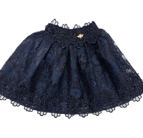 """юбка ТехноТкань модель """"солнце"""" синий гипюр (р.30-38) - фото 22429"""