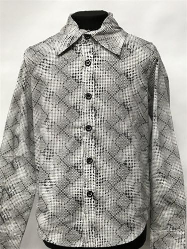 рубашка для мальчика дл.рук. клетка (р.11,15,17) - фото 22514