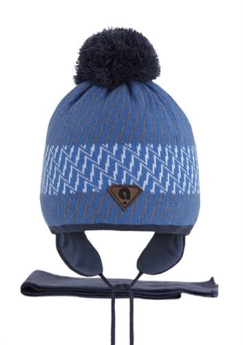 AGBO комплект 2426 Istan1 шапка с утеплителем, подклад хлопок+шарф (р.50-52) - фото 22751