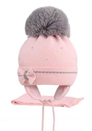 AGBO комплект 2226 Okina шапка с утеплит.подкл.хлопок+шарф (р.48-50) - фото 22758